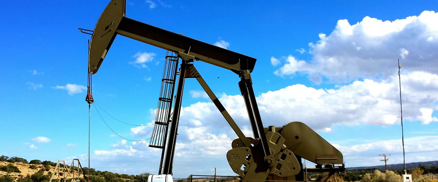 Oil pump jack in oil field.